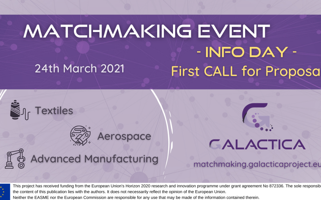 Upcoming info day for the first call for proposals! Get ready and participate in the matchmaking