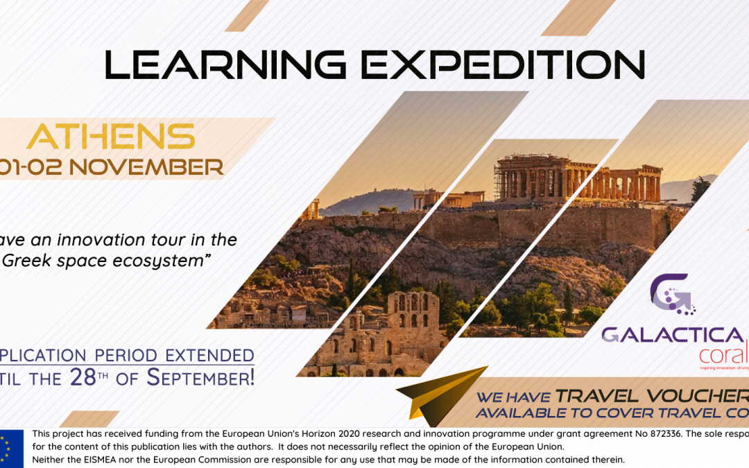 Travel vouchers deadline extended to apply to Athens' Learning Expedition!